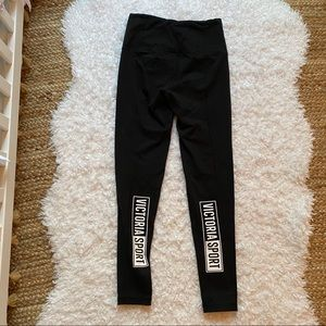 Victorias Secret Sport Black Logo Legging XS SHORT